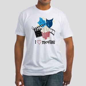 I Love Movies Fitted T-Shirt