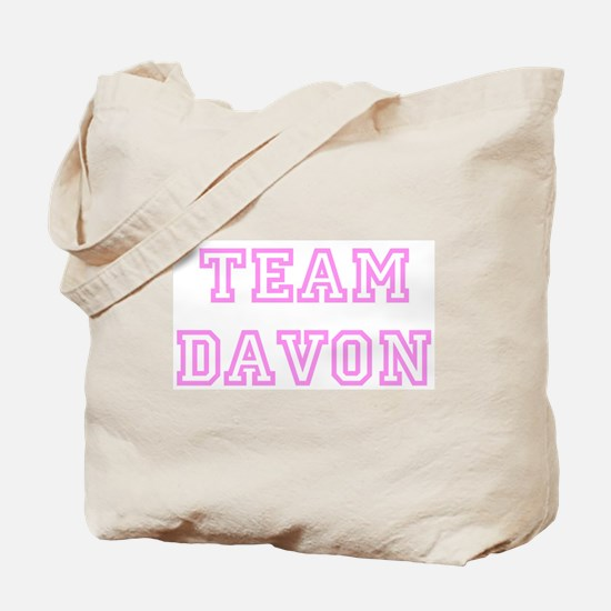 Pink team Davon Tote Bag