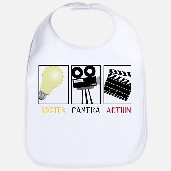 Lights Camera Action Bib