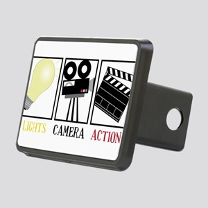 Lights Camera Action Rectangular Hitch Cover