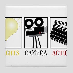 Lights Camera Action Tile Coaster