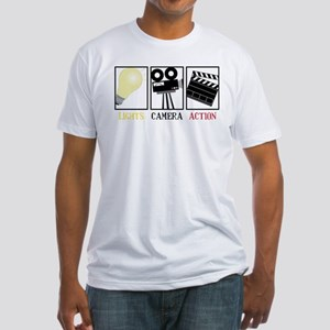 Lights Camera Action Fitted T-Shirt