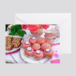 Cakes for afternoon tea - Greeting Card