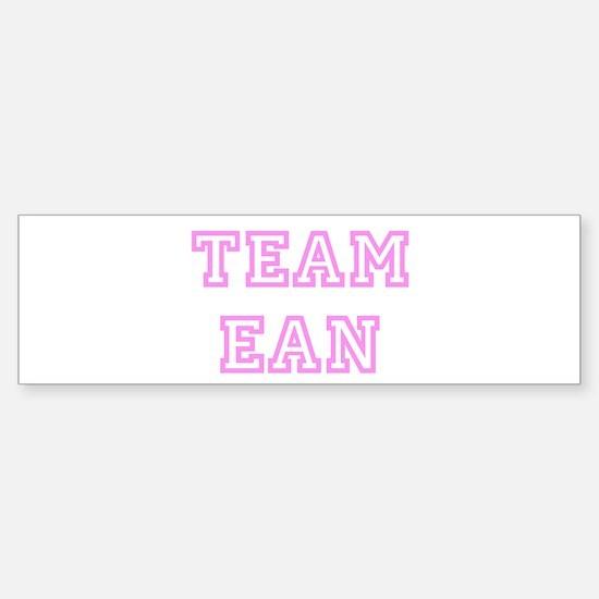 Pink team Ean Bumper Bumper Bumper Sticker