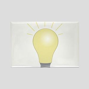 Light Bulb Rectangle Magnet