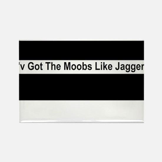 Moobs Like Jagger Rectangle Magnet