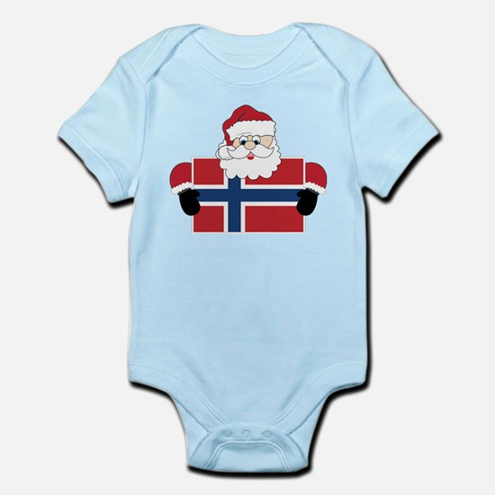Santa In Norway Infant Bodysuit