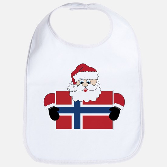 Santa In Norway Bib