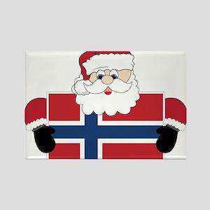 Santa In Norway Rectangle Magnet