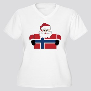 Santa In Norway Women's Plus Size V-Neck T-Shirt