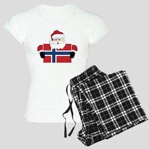 Santa In Norway Women's Light Pajamas