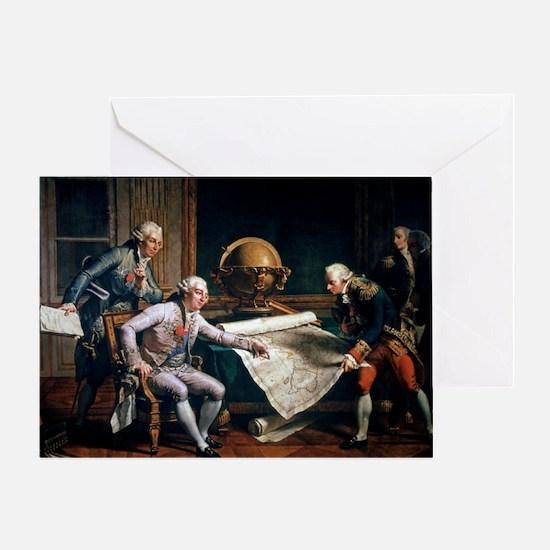 Louis XVI and La Perouse, artwork - Greeting Card