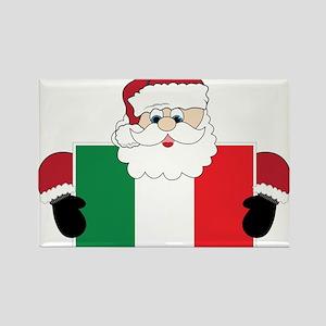 Santa In Italy Rectangle Magnet