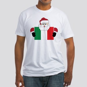 Santa In Italy Fitted T-Shirt