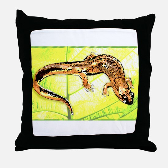 Black Mountain Salamander Throw Pillow