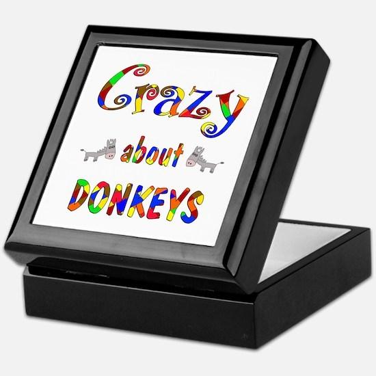 Crazy About Donkeys Keepsake Box