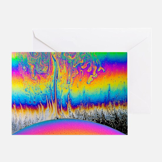 Soap film patterns - Greeting Card