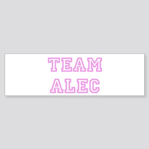 Pink team Alec Bumper Sticker