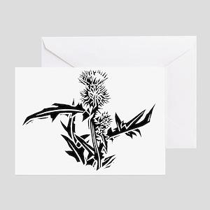 Thistle, lino print - Greeting Card