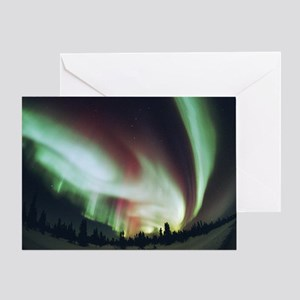 Aurora borealis - Greeting Card