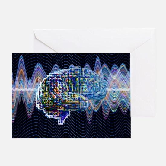 Artificial intelligence, artwork - Greeting Card