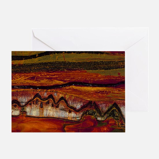 Banded iron formation - Greeting Card