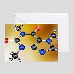 Caffeine molecule - Greeting Card