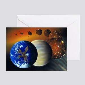 Formation of the Earth, artwork - Greeting Card