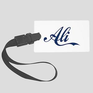 Ali name (Blue) Large Luggage Tag
