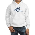 Ali name (Blue) Hooded Sweatshirt