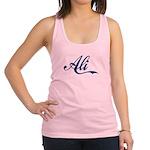 Ali name (Blue) Racerback Tank Top