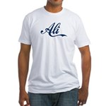 Ali name (Blue) Fitted T-Shirt