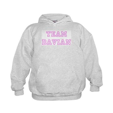 Pink team Davian Kids Hoodie