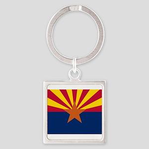Arizona flag Square Keychain