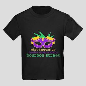 What Happens on Bourbon Street Kids Dark T-Shirt