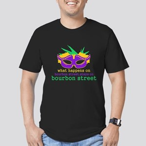 What Happens on Bourbon Street Men's Fitted T-Shir
