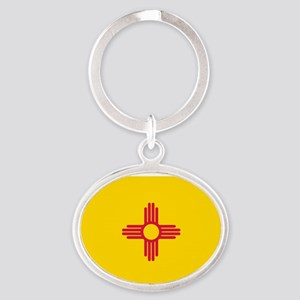 New Mexico flag Oval Keychain