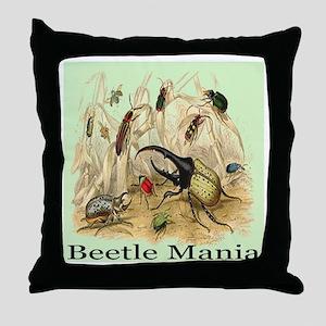 Beetle Mania Throw Pillow