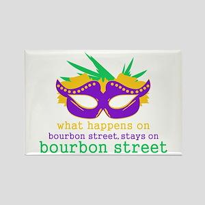 What Happens on Bourbon Street Rectangle Magnet
