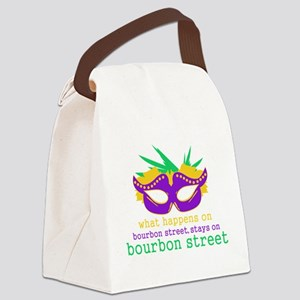 What Happens on Bourbon Street Canvas Lunch Bag
