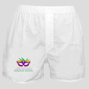 What Happens on Bourbon Street Boxer Shorts