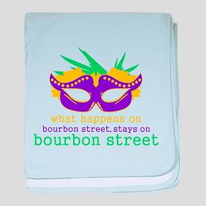 What Happens on Bourbon Street baby blanket