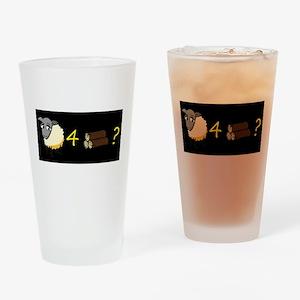 Sheep 4 wood? Drinking Glass