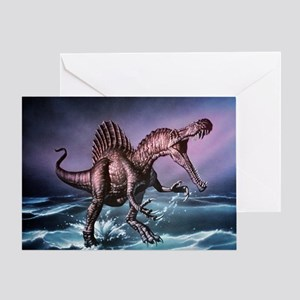 Spinosaurus dinosaur - Greeting Card