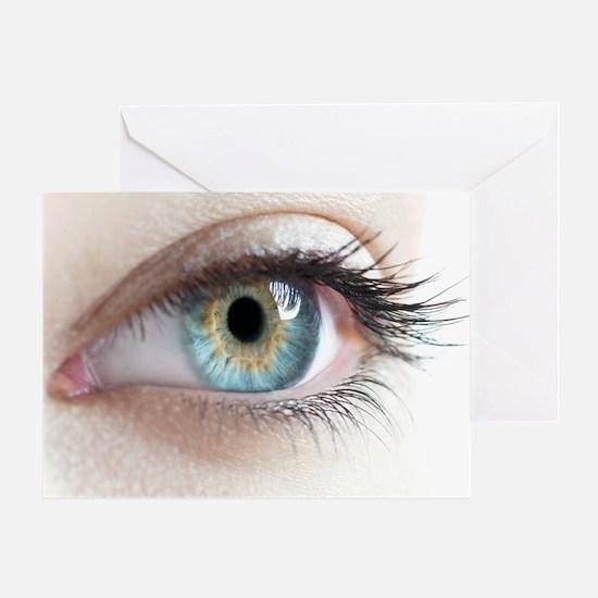 Woman's eye - Greeting Card
