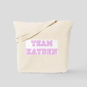 Pink team Kayden Tote Bag