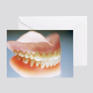 False teeth - Greeting Card