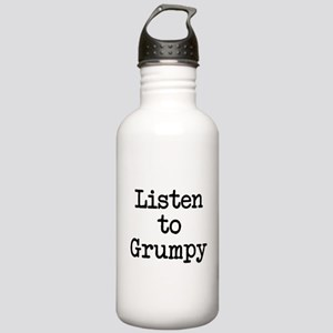 Listen to Grumpy Stainless Water Bottle 1.0L