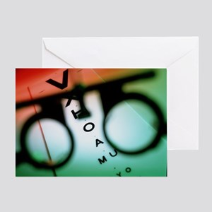 Ophthalmology test frames and eye chart - Greeting