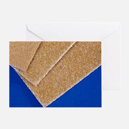 Sandpaper, close-up - Greeting Card